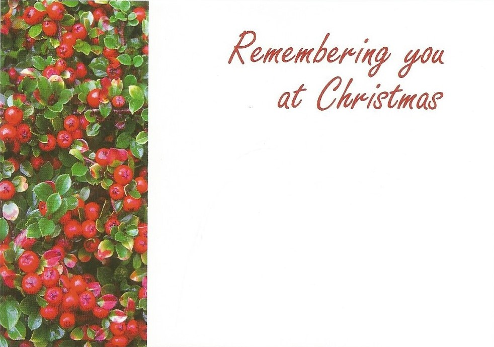 Remembering you at Christmas card