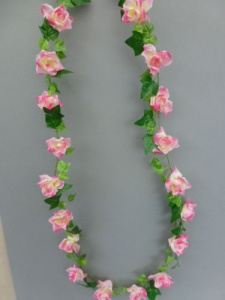 Garland artificial mini with pink roses