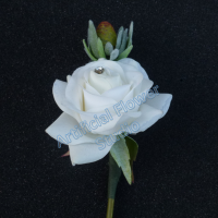 Wedding Real Touch Ivory Rose Buttonhole