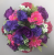 Pot for memorial vase with purple roses pink carnations