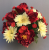 Cemetery pot  In Grave/Memorial Vase Red/Yellow gerberas-22