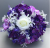 Artificial Flower grave pot with lilac/white roses violet hydrangeas