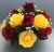 Cemetery pot with artificial  Red Yellow roses -20