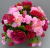 Cemetery pot with pink carnations