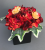 Poseur Table Decor With Artificial Autumn Red Flowers