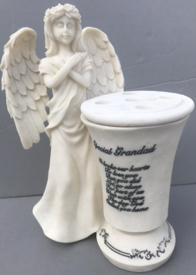 Memorial Vase with Angel