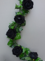 Garland Gothic with artificial black roses