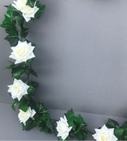 Garland with ivory diamond roses
