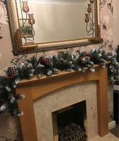 Christmas artificial frosed spruce garland