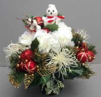 Christmas Memorial pot with snowman