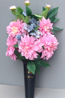 Spike vase with pink dahlia